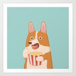 Mindless Snacking Art Print