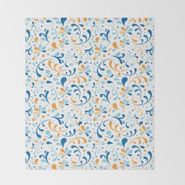 Paisley Swirly Throw Blanket