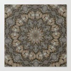 Natural Earth Tones Mandala Pattern Canvas Print