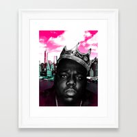 big poppa Framed Art Prints featuring Big Poppa Still King by TallRob Design
