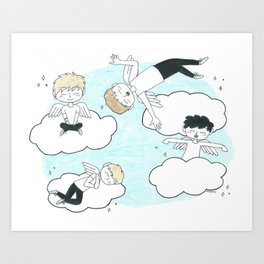 Angel Boys Art Print