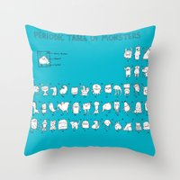 chemistry Throw Pillows featuring Monstrous Chemistry by maudie&ma