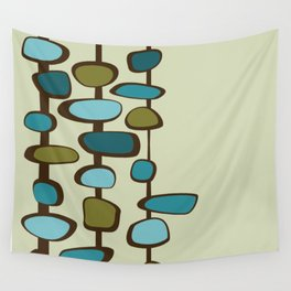Mid Century Modern Baubles (teal) Wall Tapestry