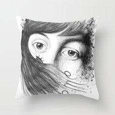 help me. Throw Pillow