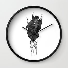 Twin flames. Wall Clock