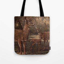 Vintage Virginia Deer Painting (1909) Tote Bag