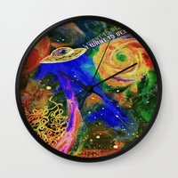 i want to believe Wall Clocks featuring I WANT TO BELIEVE by N3GATIVE CR33P