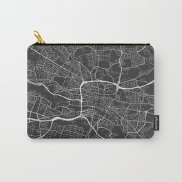 Glasgow Map, Scotland - Gray Carry-All Pouch