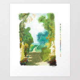 A STROLL THROUGH THE PERFUMED GARDEN BY SERGIO MATA Art Print