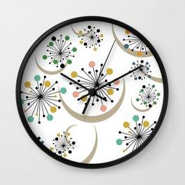 Mid Century Modern Starbursts 1 Wall Clock