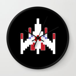 Galaga Fighter Wall Clock