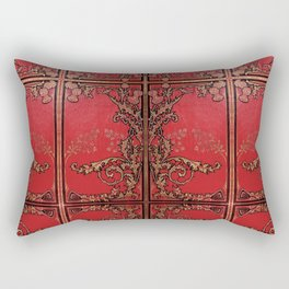 Red and Gold Thistles Rectangular Pillow