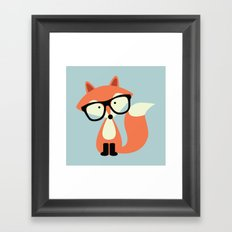 Hipster Red Fox Framed Art Print