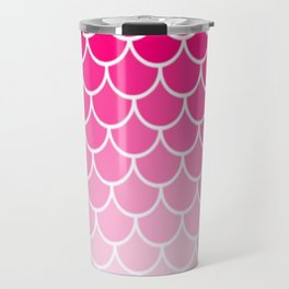 Ombre Fish Scale In Strawberry Travel Mug