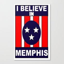 I believe in Memphis Canvas Print