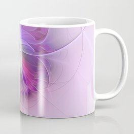 Abstract Flower With Pink And Purple Fractal Coffee Mug