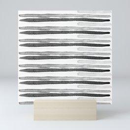 Black and White Stripes Mini Art Print