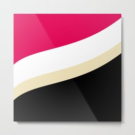 Abstract Wave pattern 1 Metal Print