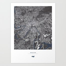 Moscow City Map Art Print