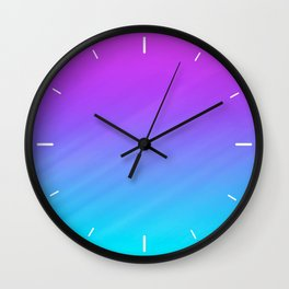 Teal and Purple Shade Wall Clock
