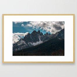 Sawtooths Mountains, Idaho Framed Art Print