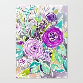 PURPLE HAZE Rose Floral Canvas Print