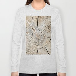 Wood Cut Long Sleeve T-shirt