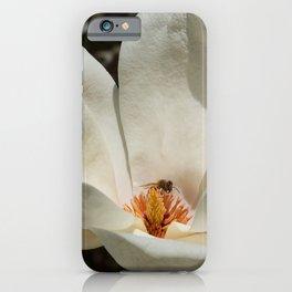 Magnolia Blossom & Bee iPhone Case