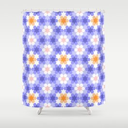 Stars and hexagons Shower Curtain