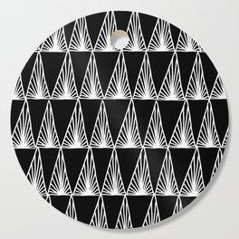 Hand Drawn Geometric Triangle Monochrome Art Deco Pattern Cutting Board