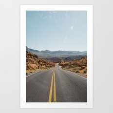 On the Desert Road Art Print