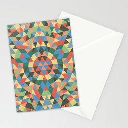 Triangle Kaleidoscope Mandala Stationery Cards