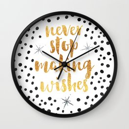 Making Wishes Quote Wall Clock