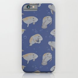Manatees and Bubbles iPhone Case