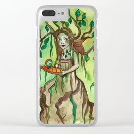 Dryad with a Tray Clear iPhone Case