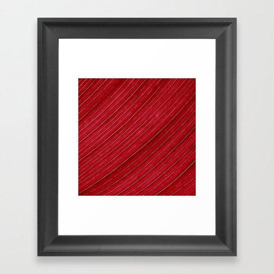 red leaf I Framed Art Print
