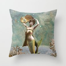 She loves the sea. Throw Pillow