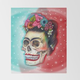 Frida's Skull ~Variation Throw Blanket