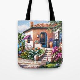 Tardis Art At The Beach House Tote Bag
