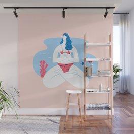 Yoga Girls 2 The She Lotus Pose Wall Mural