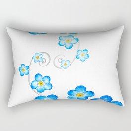 blue forget me not watercolor 2017 Rectangular Pillow