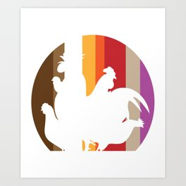 Chick Lover? Here's a cute t-shirt design with a cute silhouette of Hen Chicken Rooster T-shirt Art Print
