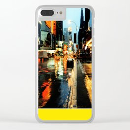 Americana - A rainy Day in Manhatten - NYC Clear iPhone Case