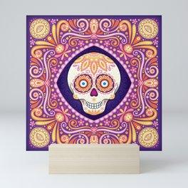 Cute Sugar Skull - Day of the Dead Skull Art by Thaneeya McArdle Mini Art Print