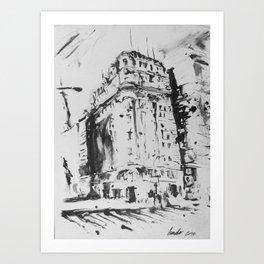 Callao y Corrientes Art Print
