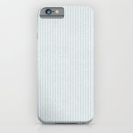 Blue - Gray Thin Stripes iPhone Case