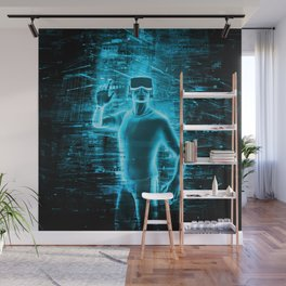 Virtual Reality User Wall Mural