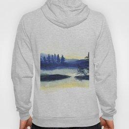 Sunset landscape painting Hoody
