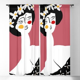 Spring Girl Blackout Curtain