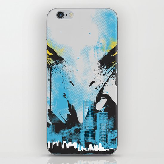 Eagle Eye Watching - Blue iPhone & iPod Skin